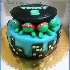 teenage turtles cake