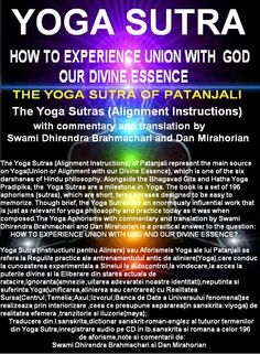 Patanjali Yoga Sutras(Aforismele Yoga) si Tao Te Ching(The Way to Inner Heaven) by DAN MIRAHORIAN   Patanjali Yoga Sutras  AN ANCIENT HANDBO...