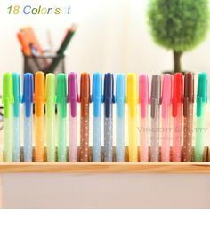 Aliexpress.com : Buy 18 color/set Gel pens Candy jelly color Kawaii Stationery Caneta gift zakka Office supplies material school 6239 from Reliable school study suppliers on V&P Home Beauty Co.,Ltd   Alibaba Group