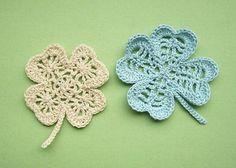 Lucky clover appliqués... Free pattern!