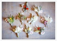 wildflower boutonnieres