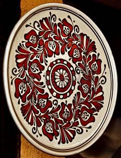 Picture of Romanian traditional pottery in the village Corund, Transylvania stock photo, images and stock photography. Romanian Wedding, Hand Painted Ceramics, Ceramic Plates, Color Patterns, Folk Art, Pottery, Clay, Vase, Traditional
