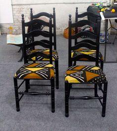 Relooker une vieille chaise en choisissant un tissu selon ses goûts