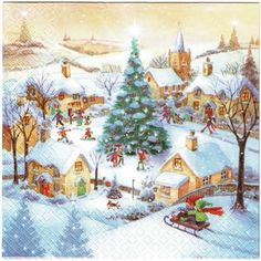 Imagenes De Motivos Navidenos Para Imprimir.Las 62 Mejores Imagenes De Servilletas Decoupage Navidad En