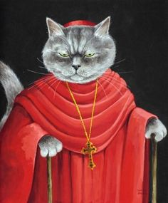There's just something ridiculously amusing about these cat portraits