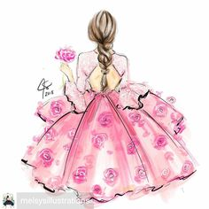 Love this gorgeous graphic illustration by Her work is so delightful and girly. Fashion Illustration Sketches, Fashion Sketches, Graphic Illustration, Girly Drawings, Art Drawings, Love Drawings, Image Girly, Chibi Kawaii, Image Deco