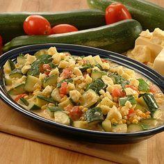 Ingredientes:      5 calabazas   1 cebolla grande o 2 chicas   2 o 3 tomates   Elote desgranado   Jamón en cuadritos   Queso rallado de tu ...