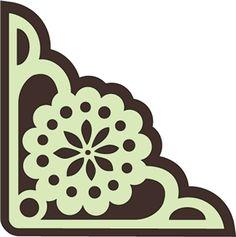 Silhouette Design Store - View Design #3266: art nouveau flower corner
