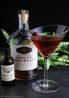 Brandied Chocolate Manhattan Recipe - whiskey, bitters and vermouth!