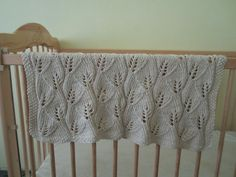 #Free Pattern; Knit; Leaf Baby Blanket ~~