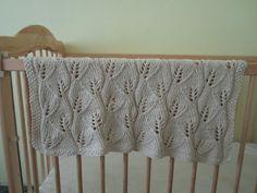 #Free Pattern; Knit; Leaf Baby Blanket ~~