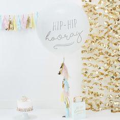 Giga ballon kit hip hip hooray Ginger Ray Pick and Mix Big Round Balloons, Giant Balloons, Printed Balloons, White Balloons, Latex Balloons, Hip Hip, Baby Shower Balloons, Birthday Balloons, 1st Birthday Parties