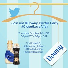 Want to win a 1-Year supply of Downy? Join us tonight! #ClosetLoveAffair