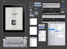 This Photoshop template makes it easy to mockup pixel-accurate iPad app designs.
