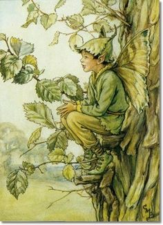 Cicely Mary Barker - Fairies of the Trees - The Elm Tree Fairy