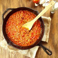 Red Pepper Lentil Bolognese Sauce
