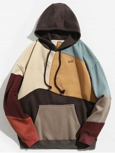 Clothes type hoodies style fashion pattern type color block letter material cotton polyester shirt length regular sleeves length full weight 0 men s hoodies turtleneck type sweatshirt Hoodie Sweatshirts, Fleece Hoodie, Hoody, Mens Fashion Wear, Fashion Outfits, Style Fashion, Trendy Fashion, Tomboy Outfits, Emo Outfits