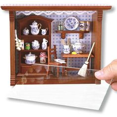 """The mini Shadow Box Display measures 8""""L x 3""""W x 6""""H and includes a real glass window. Item is fully decorated and sold complete as shown! Shadowbox include a hanger hook, so it can free-stand or hang"""