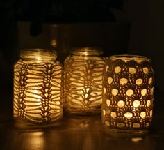 Cozy Crochet Jar Candle Cozies - from Woolbunnies