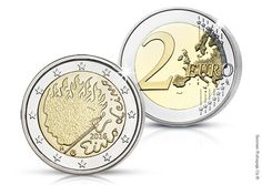 Eino Leino Finnish special coin 2016 Euro Coins, Finland, Women's Fashion, Symbols, Eggs, Fashion Women, Womens Fashion, Woman Fashion