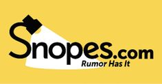 I've never trusted Snopes as the end-all-be-all fact prover that so many of my friends have, and have been bashed for it. Even if I post this to FB they will still bash me for it.
