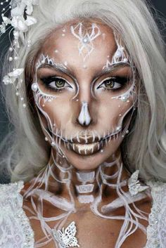 sugar-skull-makeup-creations-white-pretty-butterfly-bride-334x500.jpg (334×500)