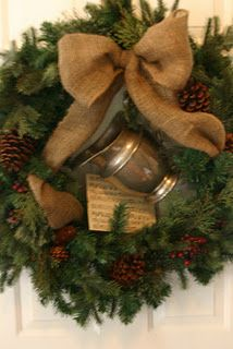 Country Christmas wreath ♥