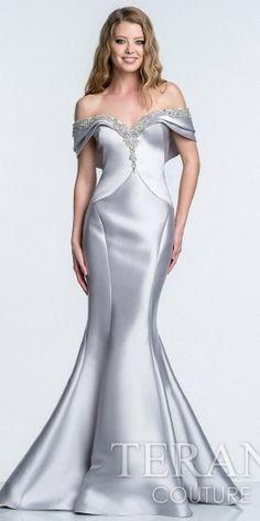 Terani Couture Satin Sweetheart Evening Dress