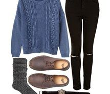 Inspiring picture clothes, jeans, oxfords, Polyvore, sweater.