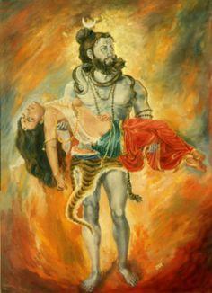 Shiva and Sati´s body by Udaya Charan Shrestha