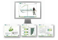Dispositif de communication interne présentant les résultats d'une étude de climat social pour Sage, éditeur de progiciels de gestion intégrés.