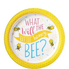 These cute honey bee paper plates are sure to create a buzz amongst guests at a baby shower or gender reveal! These colourful plates are great for cake and nibbles and will be a sweet addition to the table design. Each pack contains 8 plates. Gender Reveal Themes, Bee Gender Reveal, Gender Reveal Party Supplies, Baby Shower Party Supplies, Reveal Parties, Baby Shower Plates, Baby Shower Table, Casino Royale, Party Plates