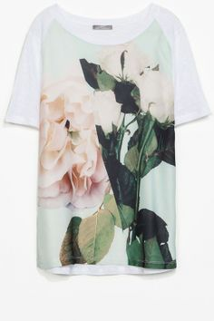 Zara Printed Linen T-Shirt, £19.99 | Look