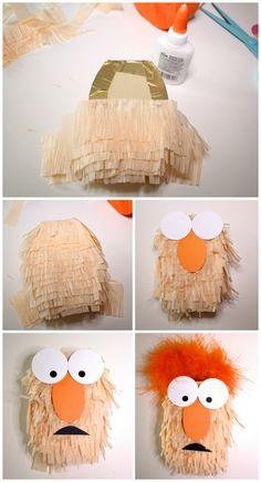 DIY Mini Muppets Piñatas! BEAKER! #MuppetsMostWanted — The Queen of Swag!