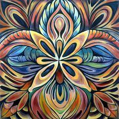 Mandala Painting - Illumination by Shadia Derbyshire