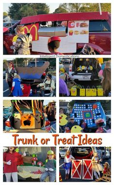 Trunk or Treat design ideas. How to decorate your car for trunk or treat. Trunk or treat ideas. It is Trunk or Treat time again! Harvest and Fall festivals often host a Trunk or Treat as part of the festivities. Scary Halloween, Halloween Treats, Fall Halloween, Halloween Party, Halloween Stuff, Halloween Costumes, Happy Halloween, Halloween Foods, Halloween Projects