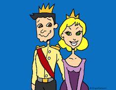 Resultado de imagen de dibujos de princesas y principes para imprimir gratis
