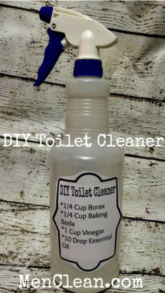 Best Natural Homemade DIY Cleaners and Recipes - DIY Toilet Cleaner Recipe - All Purposed Home Care and Cleaning with Vinegar Essential Oils and Other Natural Ingredients For Cleaning Bathroom Kitchen Floors Laundry Furniture and Homemade Cleaning Supplies, Household Cleaning Tips, Cleaning Recipes, House Cleaning Tips, Cleaning Hacks, Household Cleaners, Cleaning Solutions, Green Cleaning, Homemade Toilet Cleaner