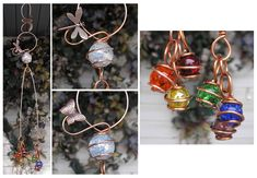 A gorgeous hand-sculpted copper and rainbow glass suncatcher. Rainbow Garden, Glass Wind Chimes, Glass Garden, Garden Art, Copper Glass, Rainbow Glass, Butterfly Fairy, Garden Windows, Garden Markers