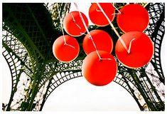 Gray Malin - Red Balloons Under Eiffel Tower