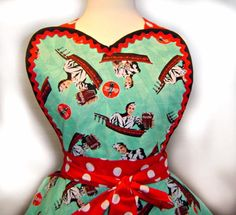 Coca Cola Soda Jerk Retro Diner Apron With Red & by TieMeUpAprons,