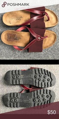 NAOT leather flip flip/slide sandal Worn but still lots of wear left.  Soles still in really good condition. NAOT Shoes Sandals