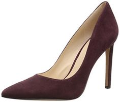 Nine West Women's Tatiana Suede Dress Pump, Wine, 5.5 M US