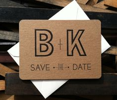 Wedding Do It Yourself Save the Dates - letterpress save the dates - weddings do it yourself. $105.00, via Etsy.
