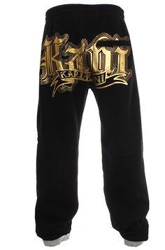 Karl Kani sweatpants i sort farve i hip hop stil.