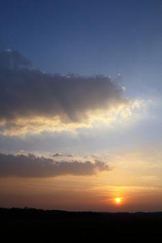 Sonnenuntergang am Montag den 22. April 2013