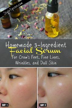 homemade facial serum