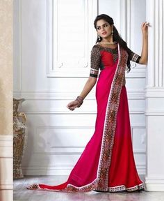 Buy Charming Pink Chiffon Sarees [APRG3248] at $62.63