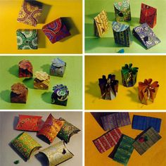Chimanlals } handmade Indian paper boxes pouches packs