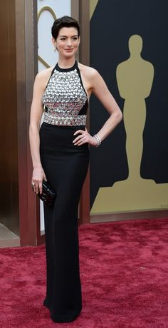 Anne Hathaway looking edgy in Gucci